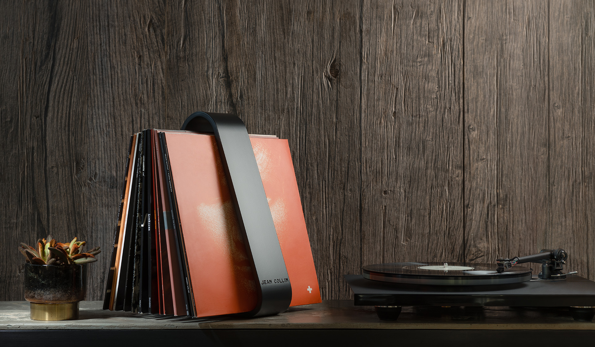 Unique design minimalist high end vinyl record holder